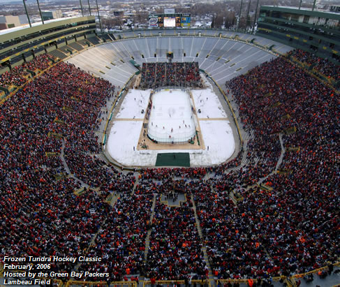 Frozen Tundra Hockey Classic Febuary, 2006 Hosted by the Green Bay Packers Lambeau Field
