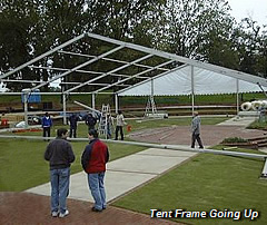 Tent Frame Going up
