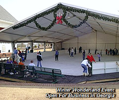 Winter Wonderland Event Open For Business in Georgia